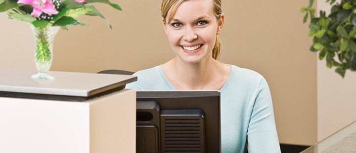 Smiling Receptionist
